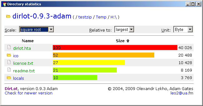 Click to view Dirlot 0.9.3adam screenshot